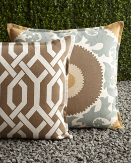 Mint & Chocolate Outdoor Pillows