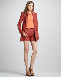 Rachel Zoe Chase Boyfriend Jacket, Geri II Shirt & Maya Striped Short