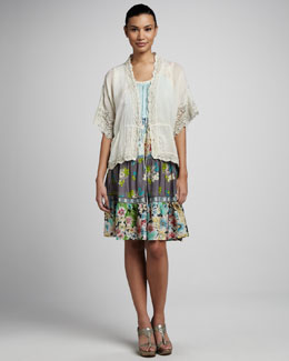 Johnny Was Collection Multi-Tier Sun Dress & Lace-Trim Jacket