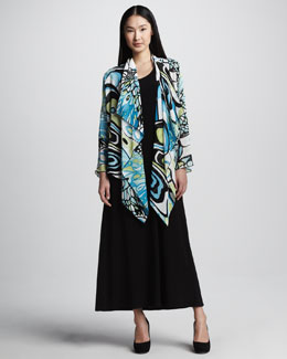 Caroline Rose Butterfly Wings Jacket & Stretch Knit Long Dress