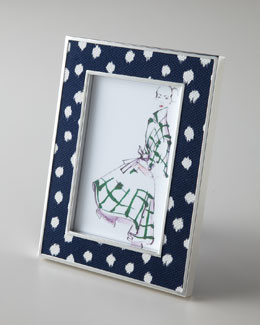 "Oscar de la Renta ""Ikat Dot"" Photo Frame"