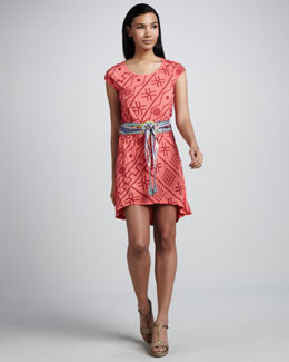 JWLA for Johnny Was Saffron Drawstring Dress & Spirit Obi Belt