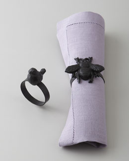"""Bee"" & ""Bird"" Napkin Rings"