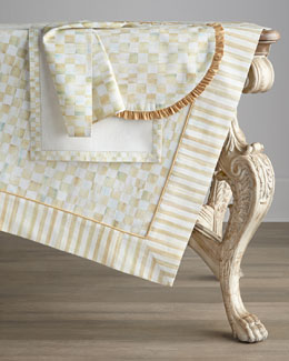 "MacKenzie-Childs ""Parchment Check"" Table Linens"