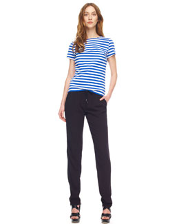 MICHAEL Michael Kors  Striped Ponte Tee & Drawstring Crepe Pants