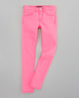 Joe's Jeans Neon Denim Leggings, Pink