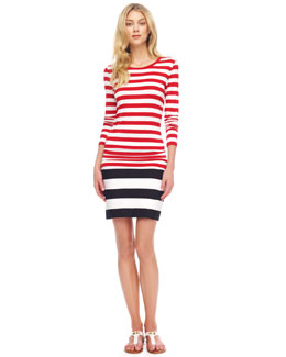 MICHAEL Michael Kors  Striped Boat-Neck Top & Striped Bandage Skirt
