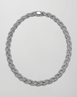 John Hardy Small Braided Silver Chain Necklace, Personalized