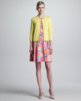 kate spade new york sofia cardigan & sonja floral-print dress