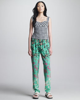 Nanette Lepore Love Parade Gingham Top & Candy Raver Printed Pants