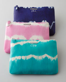 Graphic Image Tie-Dye Cosmetic Case