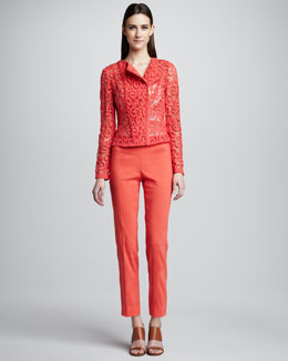 Elie Tahari Brenna Swirl Lace Jacket & Juliette Cropped Pants