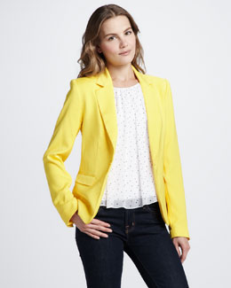 Alice + Olivia Elyse Blazer & Gathered-Neck Tank