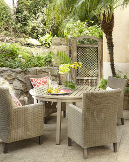"""Portico"" Outdoor Dining Table & ""Alyssa"" Chair"