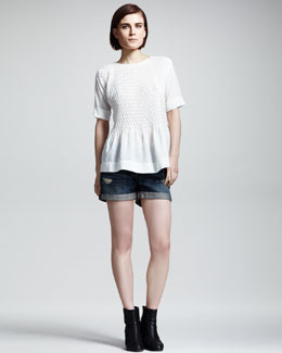 Rag & Bone Ivette Smocked Blouse
