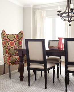"""Preslie"" Dining Table & Upholstered Seating"