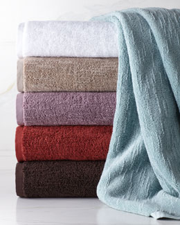 "Portico Solid-Color ""Slub"" Towels"