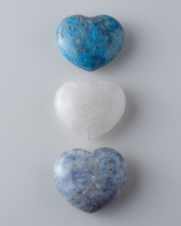 AERIN Carved Stone Hearts