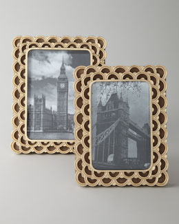"L'Objet ""Fortuny Papiro"" Photo Frame"