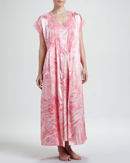 Oscar de la Renta Escape to Tahiti Cap-Sleeve Robe & Gown