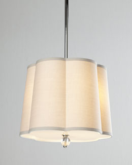 Regina-Andrew Design Scalloped-Shade Pendant Light