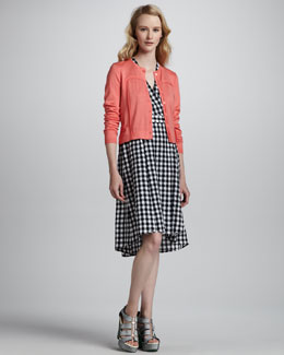 Nanette Lepore Euphoria Knit Cardigan & Love Parade Gingham Dress