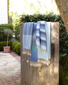 "Blue ""Fouta"" Towels"
