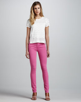 MARC by Marc Jacobs Lace Tiered Top & Gaia Super Skinny Jeans