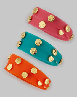 Tory Burch Logo-Studded Jelly Wrap Bracelet