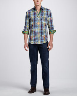 Robert Graham Limited Edition Panga Sport Shirt & Classic Jeans