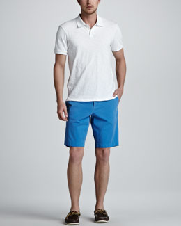 Vince Slub Jersey Polo & Twill Trouser Shorts