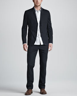 Theory Jaiden Cotton Blazer, Zack Striped Sport Shirt & Raffi Cotton Pants