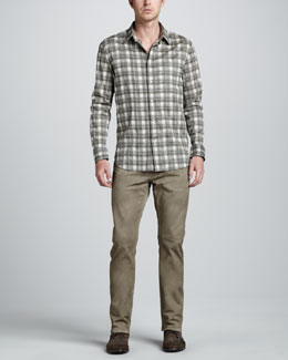 John Varvatos Star USA Check-Print Long-Sleeve Shirt & Bowery Jeans