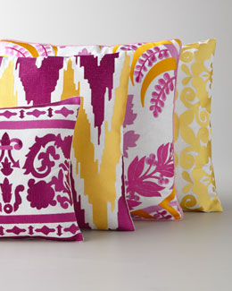 Vibrant Embroidered Pillows