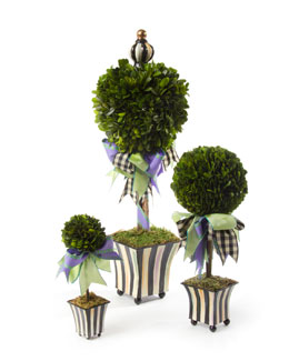 MacKenzie-Childs Courtly Stripe Topiary