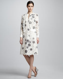 Valentino Wishflower Dandelion Lace Cardigan & Dress