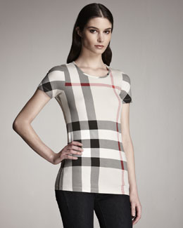Burberry Brit Check Jersey Tee