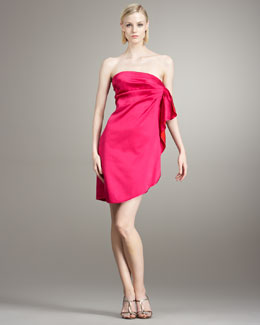 Stella McCartney Gathered Strapless Dress