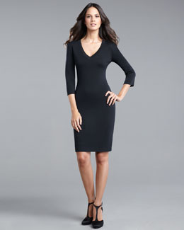 St. John Collection Three-Quarter-Sleeve Dress