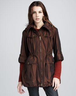 Burberry Brit Metallic Packaway Anorak