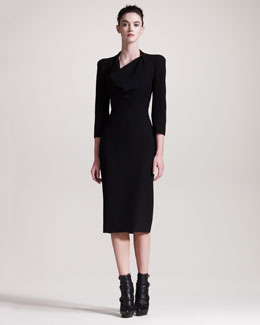 Alexander McQueen Cowl-Neck Dress