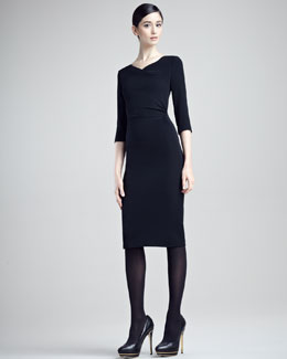 Ralph Lauren Black Label Diane Stretch Cady Dress