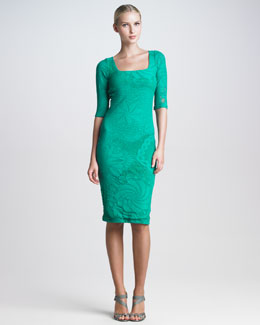 Jean Paul Gaultier Lace-Mesh Knee-Length Dress