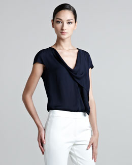 Escada Cap Sleeve Shell