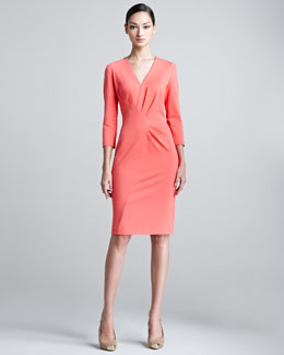 Escada Duoyan Dondi V-Neck Jersey Dress