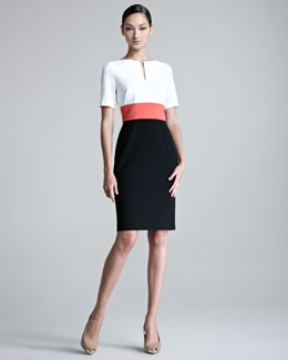 Escada Danusia Colorblock Colorblock Dress