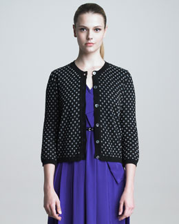 Marc Jacobs Metallic Polka-Dot Cardigan