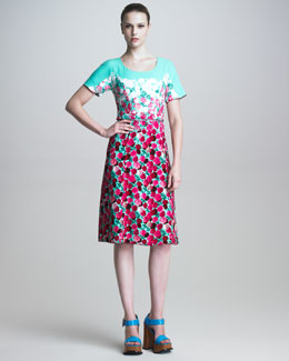 Marc Jacobs Scoop-Neck Floral Print Dress