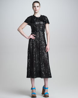 Marc Jacobs Short-Sleeve Sequined Dress