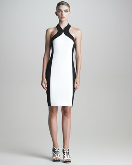 Jason Wu Colorblock Halter Sheath Dress